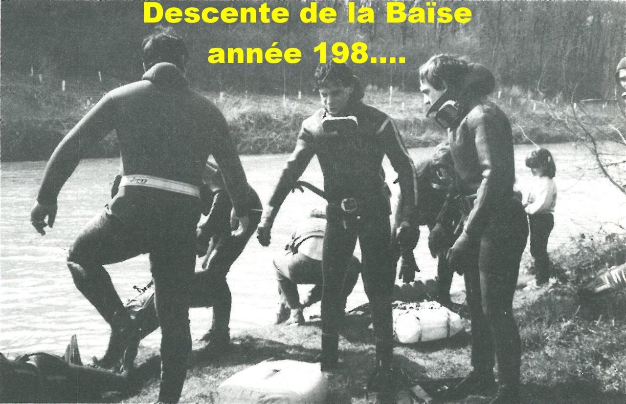 Années 80 descente de la Baïse