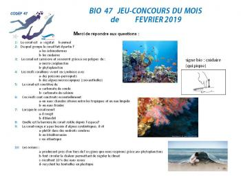 Bio 47 jeu concours de fevrier 2019