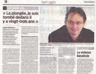Sabbe sud ouest article serge
